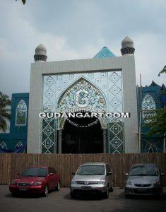 Progress pembuatan Kaca Patri Masjid Budi Mulia 2 Yogyakarta