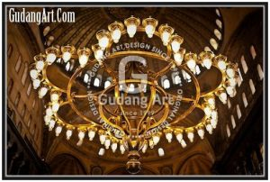Pembuatan Replika Lampu Gantung Kuningan Hagia Sophia