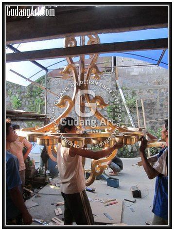 Pembuatan Replika Lampu Gantung Kuningan Hagia Sophia7