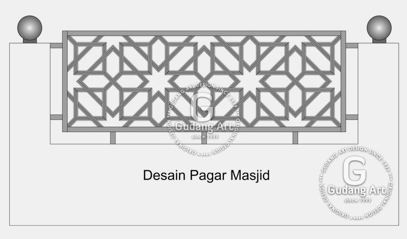 Pembuatan Ornamen Pagar Masjid Aluminium Cor