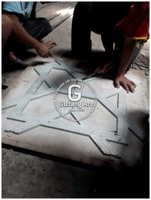 Pembuatan Ornamen Pagar Masjid Aluminium Cor3