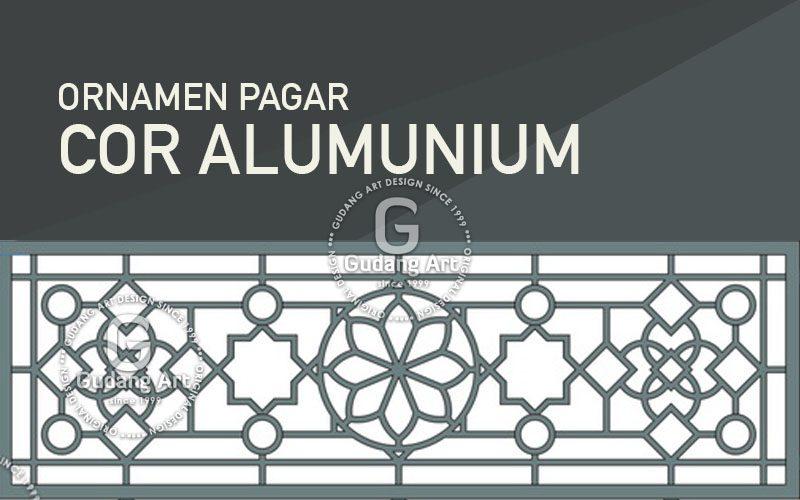 Motif Ornamen Islam Pagar Masjid