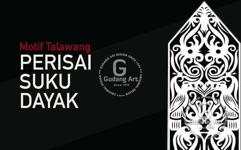 Motif Talawang   Perisai Suku Dayak