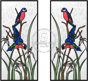 Langkah Membuat Lukisan Kaca Patri Tema Fauna Untuk Dekorasi Ruangan Anda