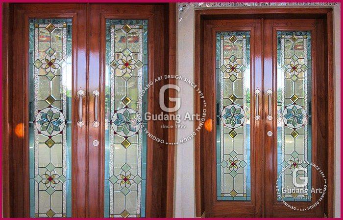 Pengrajin Kaca Patri jendela Minimalis Untuk Hiasan Rumah