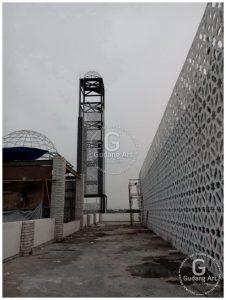 Mengaplikasikan Ornamen Masjid Pagar Aluminium Cor
