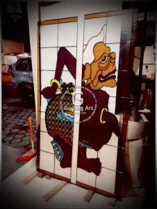 Seni Tradisional Kerajinan Kaca Patri Wayang