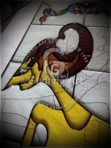 Seni Tradisional Kerajinan Kaca Patri Wayang2