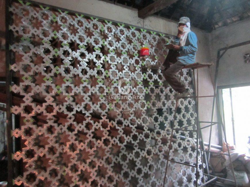 Ornamen Masjid Pagar Aluminium Cor Yang Berkualitas