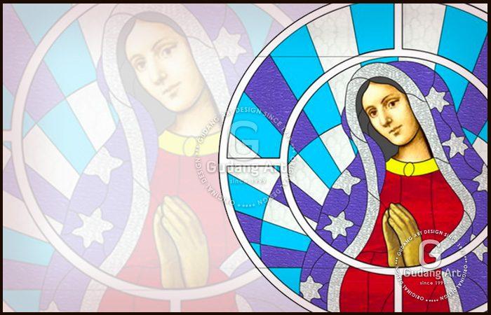 contoh motif kaca patri gereja