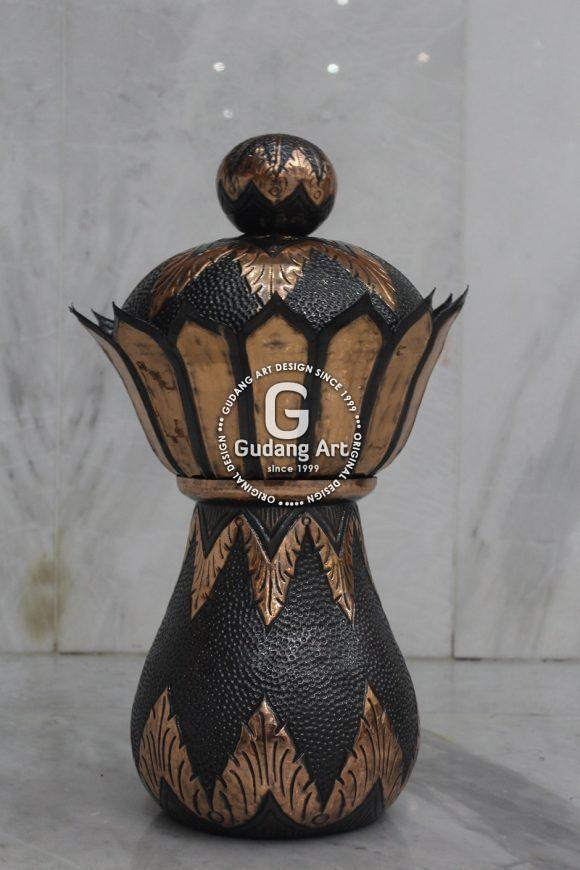 Contoh Produk Kerajinan Vase Kuningan Tembaga
