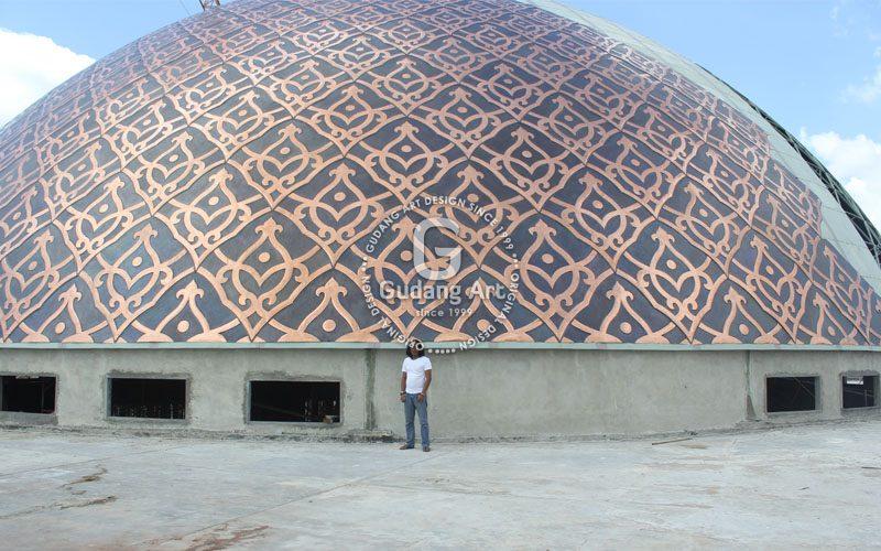Kerajinan Tembaga Kuningan - Kubah Tembaga - Kubah Masjid Tembaga